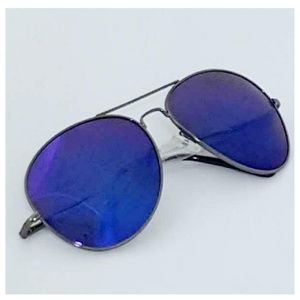 Accessories - Aviator Fashion Sunglasses Gray Blue Mirror Lens